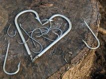 Coração do pescador imagens de stock