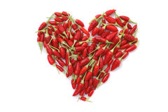 Coração do pimentão Imagem de Stock Royalty Free