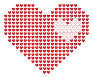 Coração do pixel. Imagens de Stock Royalty Free