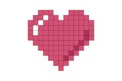 Coração 01 do pixel Fotos de Stock Royalty Free