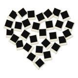 Coração do Polaroid do amor ilustração stock