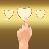 Coração do ponto da mão Fotografia de Stock Royalty Free