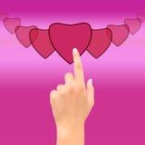 Coração do ponto da mão Fotos de Stock