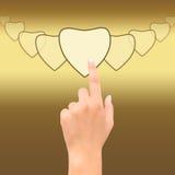 Coração do ponto da mão Imagem de Stock