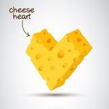 coração do queijo 3D foto de stock