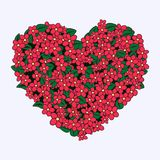 Coração do ramalhete ilustração royalty free