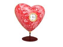 Coração do relógio em um suporte Fotos de Stock Royalty Free