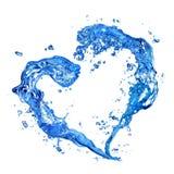 Coração do respingo da água Foto de Stock Royalty Free