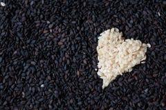 Coração do sésamo Foto de Stock