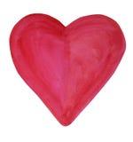 Coração do ` s do Valentim da aquarela Fotografia de Stock Royalty Free