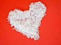 Coração do sal Imagens de Stock Royalty Free