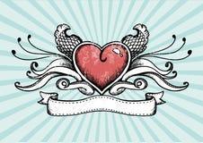 Coração do tatuagem Fotografia de Stock
