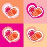 Coração do telefone Fotografia de Stock