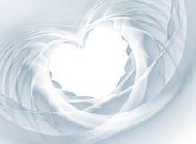 Coração do véu Imagens de Stock Royalty Free