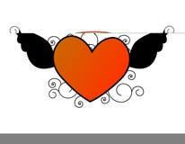 Coração do vôo/ilustração das asas Foto de Stock
