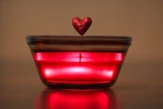 Coração do Valentim na geléia de incandescência Imagem de Stock