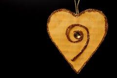 Coração do Valentim no preto Foto de Stock