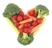 Coração do vegetariano imagens de stock royalty free
