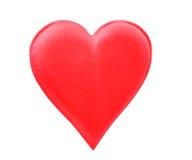 Coração do vermelho da tela fotografia de stock
