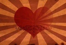 Coração do vermelho do cartão Fotografia de Stock