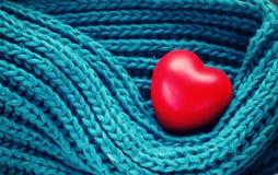 Coração do vermelho do dia de Valentim Imagens de Stock Royalty Free