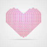 Coração do vetor Imagem de Stock