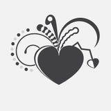 Coração do vetor. Fotos de Stock Royalty Free