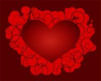 Coração do vetor com espiral-elementos ilustração royalty free