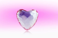 Coração do vidro Foto de Stock Royalty Free