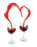 Coração do vinho fotografia de stock
