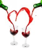 Coração do vinho vermelho foto de stock royalty free