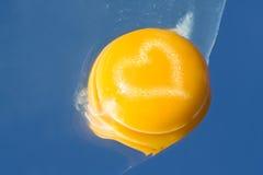 Coração do Yolk imagens de stock