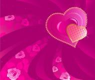 Coração dois cor-de-rosa Imagens de Stock