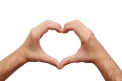 Coração dos amantes Fotos de Stock Royalty Free
