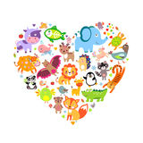 Coração dos animais Imagem de Stock