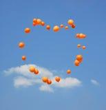 Coração dos balões Imagens de Stock Royalty Free
