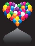 Coração dos balões ilustração stock