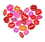 Coração dos beijos Imagem de Stock