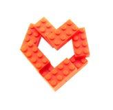 Coração dos blocos imagem de stock