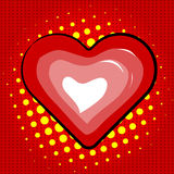 Coração dos bordos lustrosos do vetor. Fotos de Stock