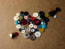 Coração dos botões Fotografia de Stock Royalty Free