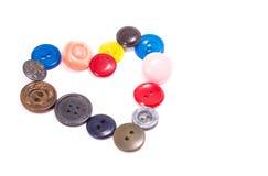 Coração dos botões Foto de Stock