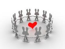 Coração dos coelhos Foto de Stock