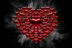 Coração dos corações Fotografia de Stock Royalty Free