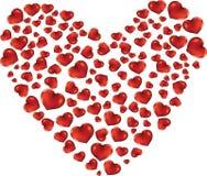 Coração dos corações vermelhos ilustração do vetor