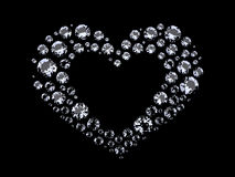 Coração dos diamantes Fotografia de Stock