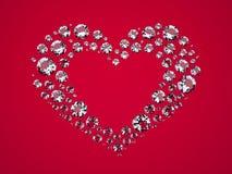 Coração dos diamantes Imagem de Stock