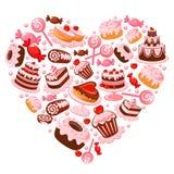 Coração dos doces ilustração do vetor