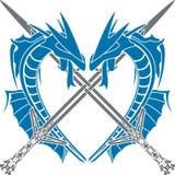 Coração dos dragões Fotos de Stock Royalty Free