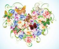 Coração dos elementos naturais ilustração do vetor